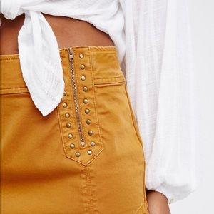 NWOT Free People Runaway Studded Mini Skirt size 4
